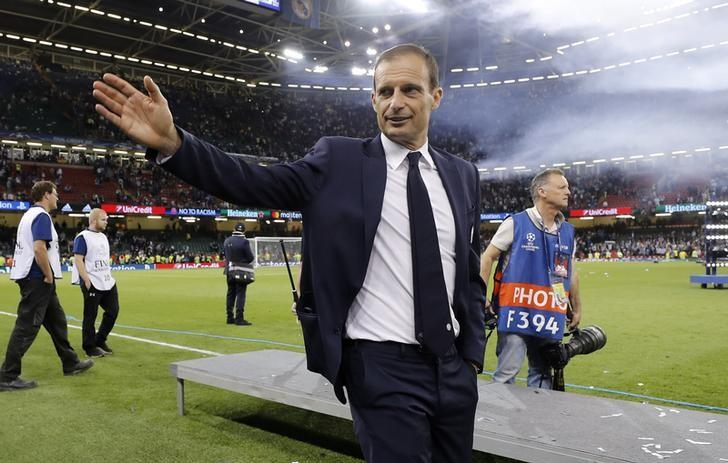 Britain Soccer Football - Juventus v Real Madrid - UEFA Champions League Final - The National Stadium of Wales, Cardiff - June 3, 2017 Juventus coach Massimiliano Allegri after the match  Reuters / Eddie Keogh Livepic