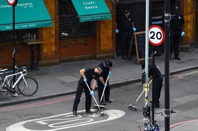 London's Borough Market crime scene