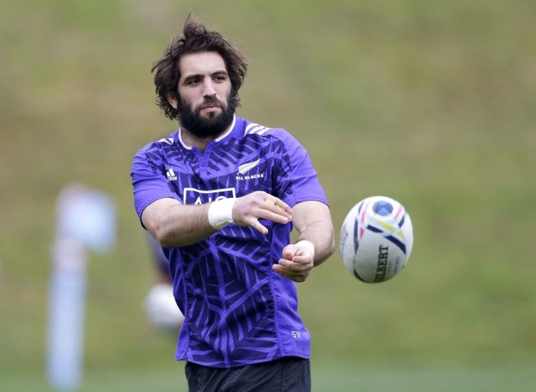 FILE PHOTO: Rugby Union - New Zealand Training - Pennyhill Park, Bagshot, Surrey - 27/10/15 Sam Whitelock of New Zealand during training Action Images via Reuters / Henry Browne Livepic