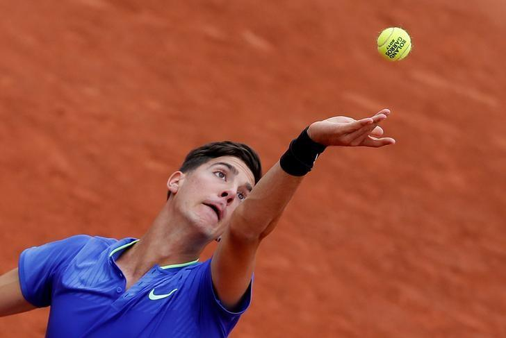 Tennis - French Open - Roland Garros, Paris, France - 30/5/17 Australia's Thanasi Kokkinakis in action during his first round match against Japan's Kei Nishikori Reuters / Gonzalo Fuentes/ Files