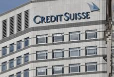 The Credit Suisse logo is seen at their offices at Canary Wharf financial district in London,Britain, March 3, 2016.  REUTERS/Reinhard Krause