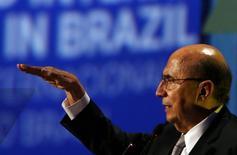 O ministro da Fazenda do Brasil, Henrique Meirelles, durante evento em São Paulo, no Brasil 30/05/2017 REUTERS/Paulo Whitaker