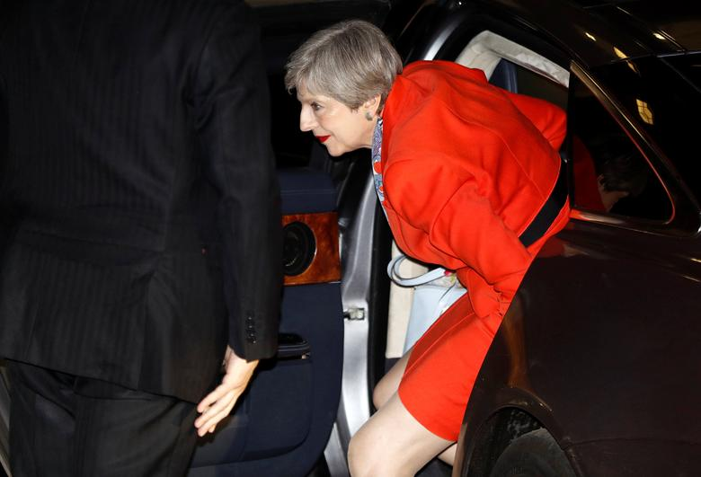Britain's Prime Minister Theresa May arrives at the Conservative Party's headquarters in London, June 9, 2017. REUTERS/Peter Nicholls