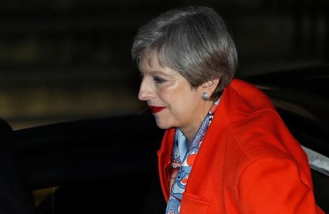6月9日、スカイ・ニュースは、メイ英首相が閣僚を指名する見通しと伝えた(2017年 ロイター/Peter Nicholls)
