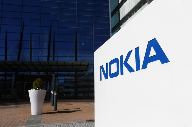 A Nokia logo is seen at the company's headquarters in Espoo, Finland, May 5, 2017. REUTERS/Ints Kalnins