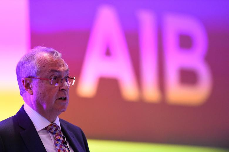 FILE PHOTO: Chairman of Allied Irish Bank Richard Pym speaks at the Allied Irish Bank Annual General Meeting in Dublin, Ireland April 27, 2017. REUTERS/Clodagh Kilcoyne/File Photo