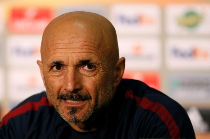 Football Soccer - AS Roma news conference - UEFA Europa League  - Stade de Lyon - Decines, France - 8/3/2017 - AS Roma's coach Luciano Spalletti attends a news conference. REUTERS/Robert Pratta/File Photo
