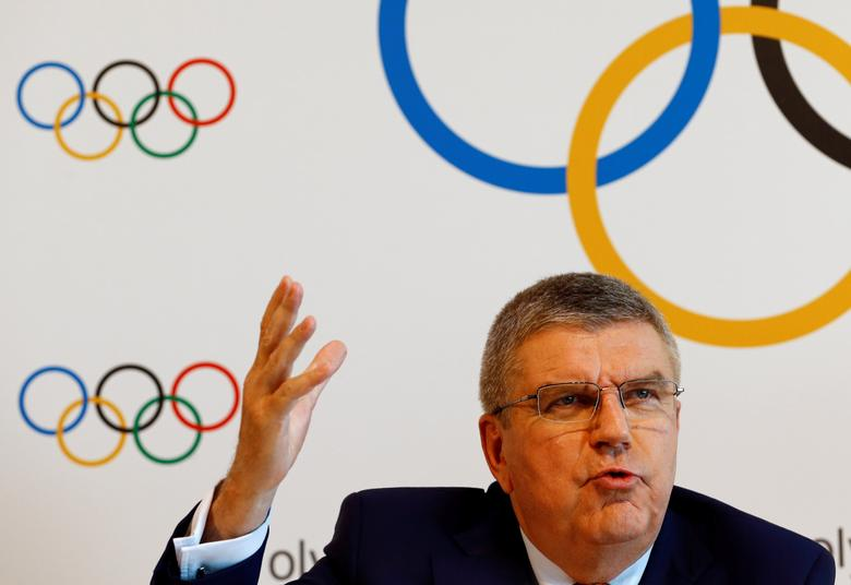 International Olympic Committee (IOC) President Thomas Bach attends a news conference after an Executive Board meeting in Lausanne, Switzerland, June 9, 2017. REUTERS/Denis Balibouse