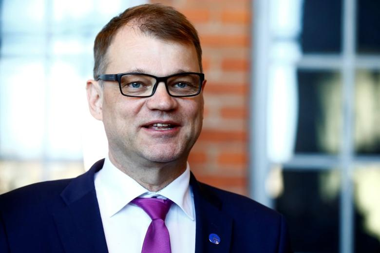Finland's Prime Minister Juha Sipila speaks to media after government's open session for members of public took place during the celebration of the 100th anniversary of Finnish independence in Porvoo, Finland May 4, 2017. REUTERS/Ints Kalnins/Files