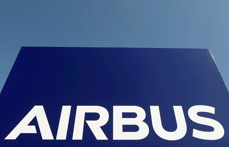 The logo of Airbus Group is seen on the company's headquarters building in Toulouse, Southwestern France, April 18, 2017.  REUTERS/Regis Duvignau/File Photo