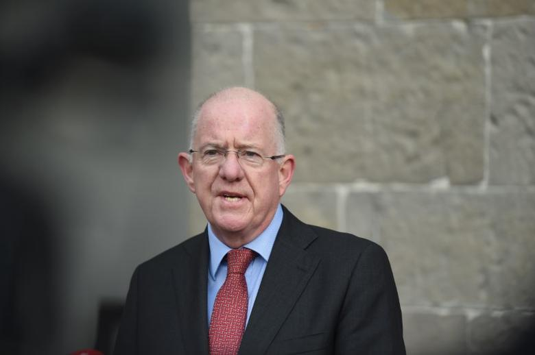 Ireland's Minister for Foreign Affairs Charlie Flanagan speaks to the media on arrival at the All-Island Civic Dialogue on Brexit in Dublin, Ireland November 2, 2016. REUTERS/Clodagh Kilcoyne/Files
