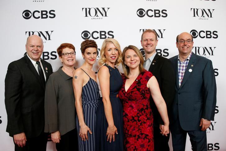 Nominees for the Broadway Musical 'Come From Away' pose together during arrivals for the 2017 Tony Awards Meet The Nominees Press Reception in New York, U.S., May 3, 2017. REUTERS/Brendan McDermid/Files
