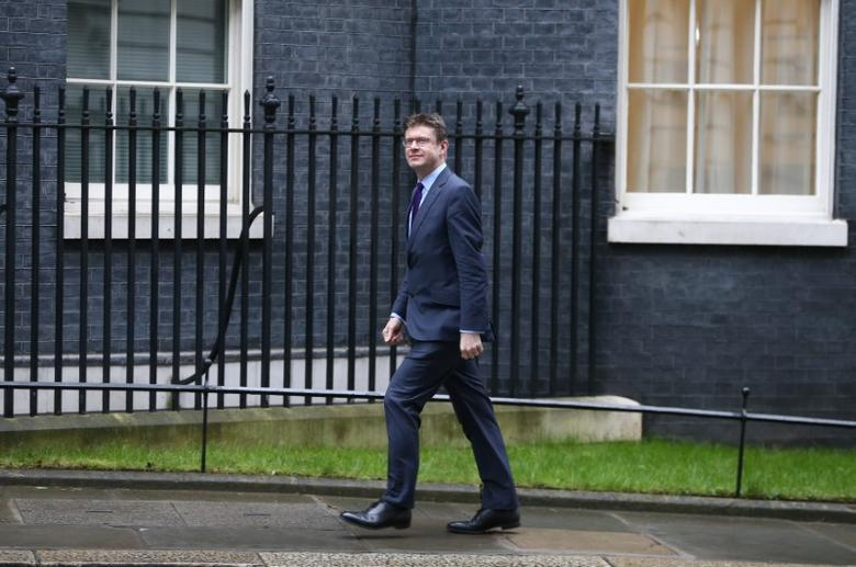 Britain's Secretary of State for Business, Energy and Industrial Strategy Greg Clark arrives at 10 Downing Street for a cabinet meeting ahead of the budget in London, March 8, 2017. REUTERS/Neil Hall