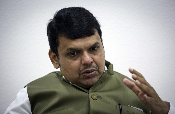 Maharashtra's chief minister Devendra Fadnavis speaks during an interview with Reuters at his official residence in Mumbai, India, July 9, 2015. REUTERS/Danish Siddiqui/Files