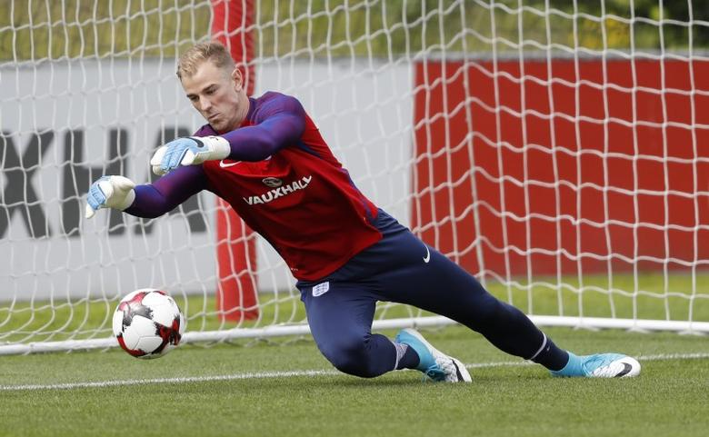 Britain Football Soccer - England Training - St. George's Park, Burton upon Trent - June 9, 2017 England's Joe Hart during training Action Images via Reuters / Carl Recine Livepic