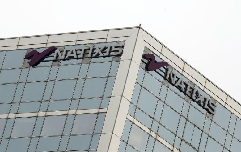 FILE PHOTO: The logo of French bank Natixis is seen outside of one of their offices in Paris, France, January 24, 2017. REUTERS/Jacky Naegelen