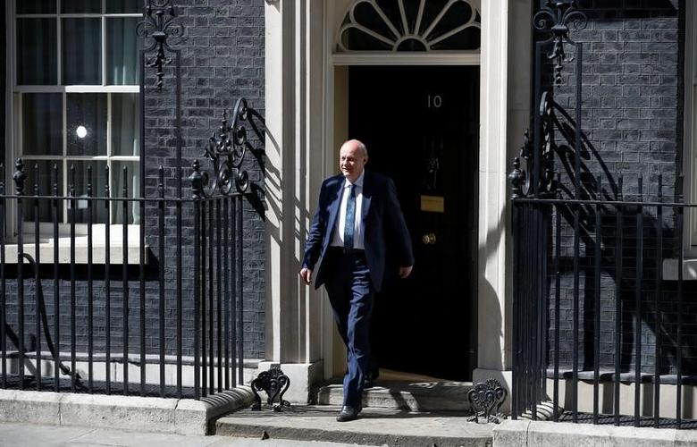 Damian Green who has been appointed First Secretary of State and Minister for the Cabinet Office leaves Downing Street in London, Britain June 11, 2017. REUTERS/Phil Noble