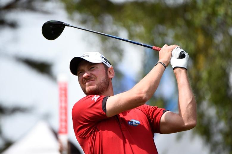 Golf - European Tour - Nordea Masters - Barseback, Sweden - 03/06/17 - England's Chris Wood tees out on hole one. TT News Agency/Emil Langvad/via REUTERS