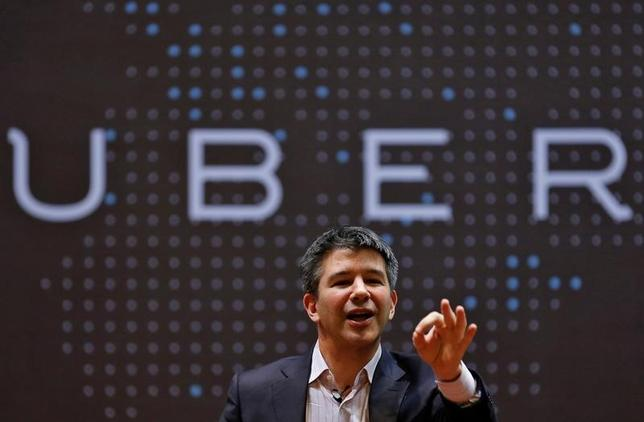 Uber CEO Travis Kalanick speaks to students during an interaction at the Indian Institute of Technology (IIT) campus in Mumbai, India, January 19, 2016. REUTERS/Danish Siddiqui/File photo