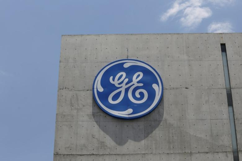 The logo of General Electric Co. is pictured at the Global Operations Center in San Pedro Garza Garcia, neighbouring Monterrey, Mexico, May 12, 2017. REUTERS/Daniel Becerril