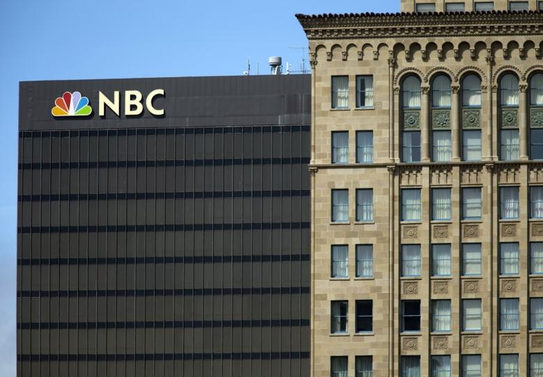 The NBC logo is picture atop their office building in San Diego, California  September 1, 2015. REUTERS/Mike Blake