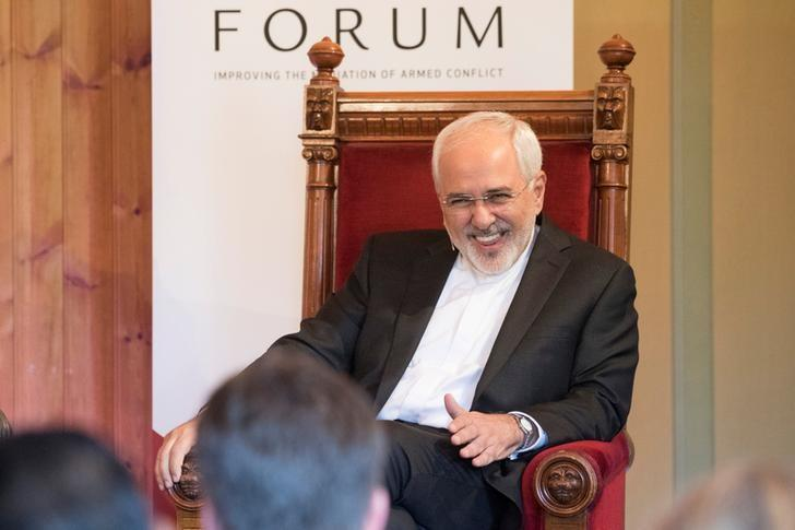 Iran's Foreign Minister Mohammad Javad Zarif smiles during the opening of the Oslo Forum at Losby Gods outside Oslo, Norway June 13, 2017. NTB Scanpix/Hakon Mosvold Larsen via REUTERS