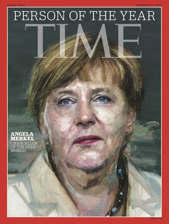 German Chancellor Angela Merkel appears on the cover of Time Magazine's Person of the Year issue in this undated handout photo obtained by Reuters December 9, 2015. Mandatory credit REUTERS/Time Inc./Handout via Reuters