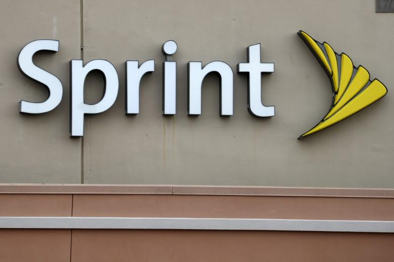 FILE PHOTO -  A Sprint store logo is pictured on a building in Boca Raton, Florida March 19, 2016. REUTERS/Carlo Allegri/File Photo