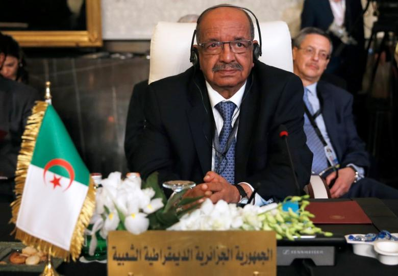 Algerian Minister of Maghreb Affairs, African Union and Arab League Abdelkader Messahel attends the preparatory meeting of Arab Foreign ministers of the 28th Ordinary Summit of the Arab League at the Dead Sea, Jordan in this file photo dated March 27, 2017. REUTERS/Muhammad Hamed
