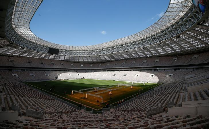An interior view shows the Luzhniki Stadium, which will host 2018 FIFA World Cup matches, in Moscow, Russia May 6, 2017. REUTERS/Maxim Shemetov/Files
