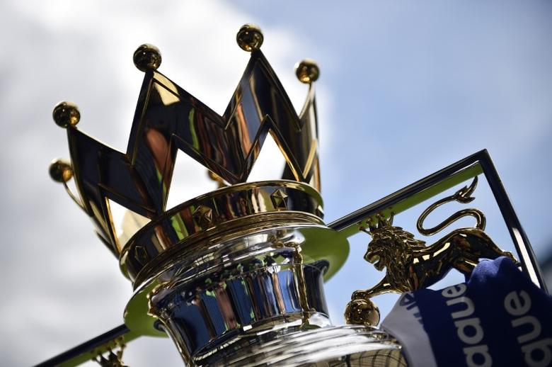 Britain Football Soccer - Chelsea v Sunderland - Premier League - Stamford Bridge - 21/5/17 General view of the Premier League trophy before the match  Reuters / Hannah McKay Livepic