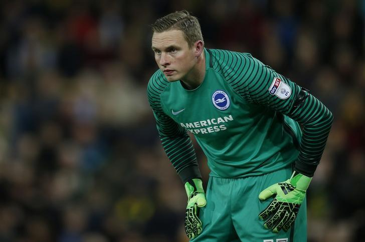 Britain Football Soccer - Norwich City v Brighton & Hove Albion - Sky Bet Championship - Carrow Road - 21/4/17 Brighton and Hove Albion's David Stockdale after the game. Action Images / Andrew Couldridge Livepic