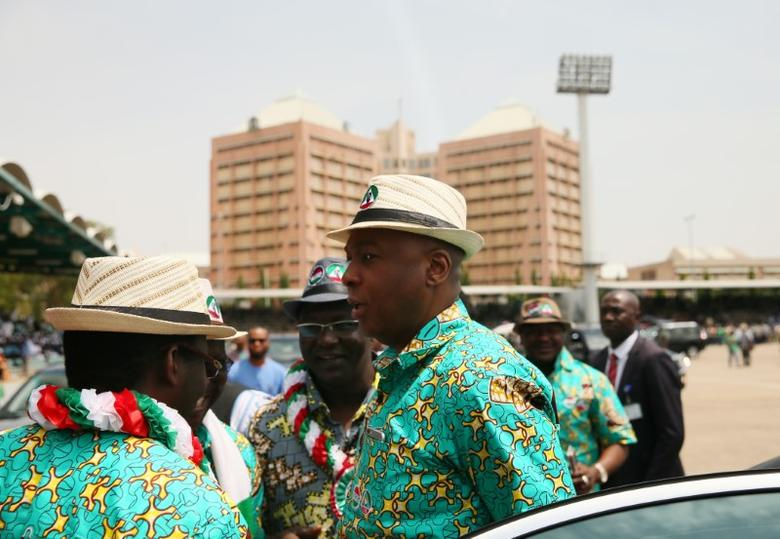 Nigeria's Senate President Bukola Saraki arrives at Eagle Square for a May Day rally in Abuja, Nigeria May 1, 2017.  REUTERS/Afolabi Sotunde