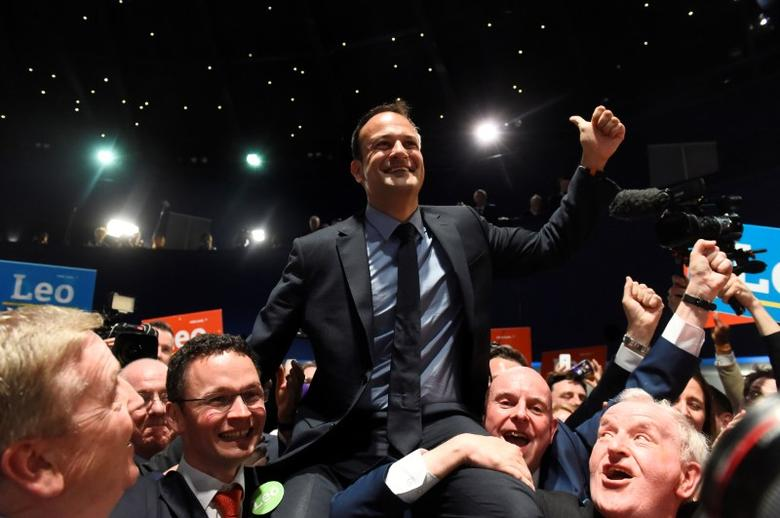 Leo Varadkar wins the Fine Gael parliamentary elections to replace Prime Minister of Ireland (Taoiseach) Enda Kenny as leader of the party, in Dublin, Ireland June 2, 2017. REUTERS/Clodagh Kilcoyne