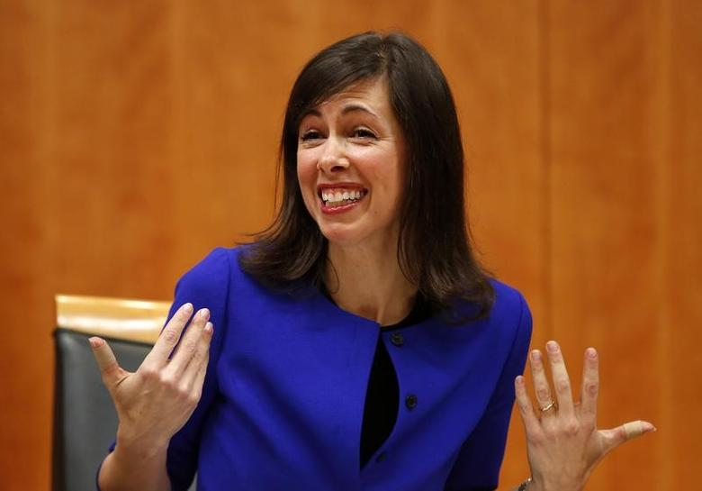 Federal Communications Commission (FCC) commissioner Jessica Rosenworcel attends a FCC Net Neutrality hearing in Washington February 26, 2015.  REUTERS/Yuri Gripas
