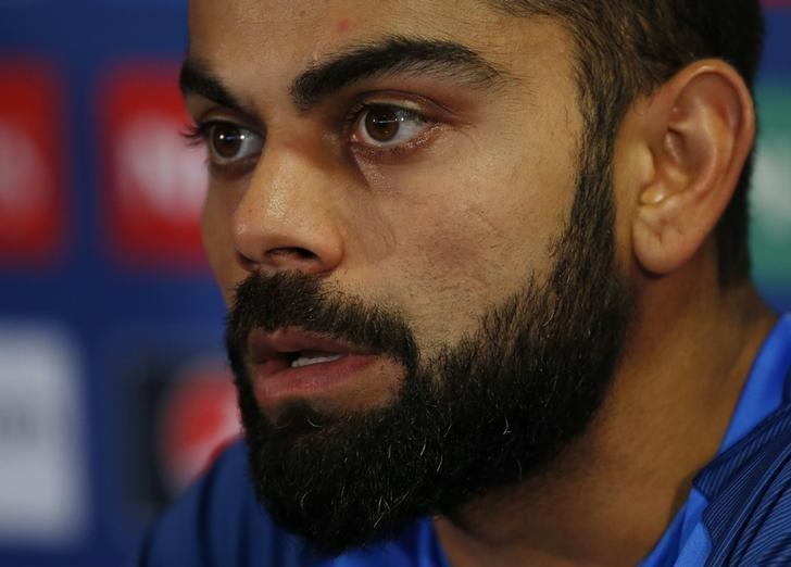Britain Cricket - India Press Conference - Edgbaston - June 14, 2017 India's Virat Kohli during a press conference Action Images via Reuters / Andrew Boyers Livepic