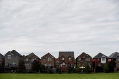 FILE PHOTO: Houses back onto a park in Vaughan, a suburb with an active real estate market, in Toronto, Canada, May 24, 2017.    REUTERS/Mark Blinch/File Photo