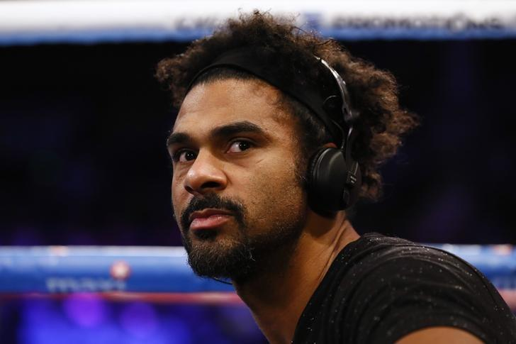 Britain Boxing - Josh Taylor v Warren Joubert Commonwealth Super Lightweight Title - Meadowbank Arena, Edinburgh, Scotland - 24/3/17 David Haye ringside before the fight Action Images via Reuters / Jason Cairnduff Livepic/Files