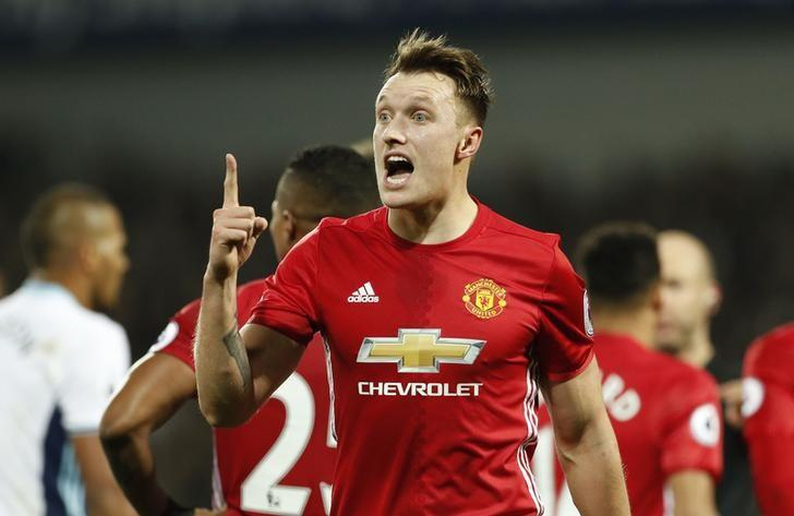 Britain Football Soccer - West Bromwich Albion v Manchester United - Premier League - The Hawthorns - 17/12/16 Manchester United's Phil Jones reacts Action Images via Reuters / John Sibley/ Livepic/ Files