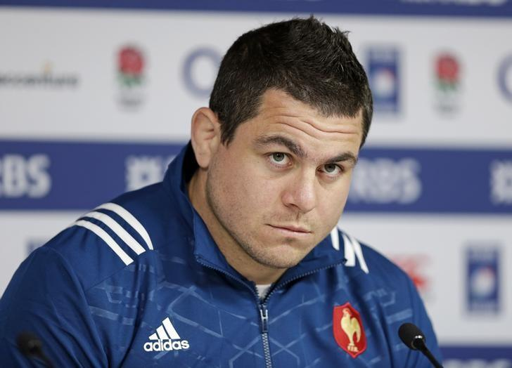 Britain Rugby Union - France Press Conference & Kicking Practice - Twickenham Stadium, London, England - 3/2/17 Guilhem Guirado of France during a press conference Action Images via Reuters / Henry Browne