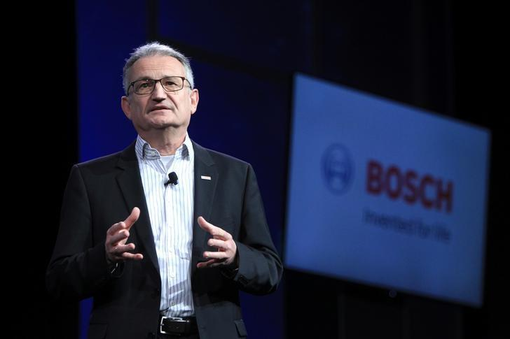 Werner Struth, member of the board of management of Robert Bosch GmbH, speaks during a Bosch news conference at the 2017 CES in Las Vegas, Nevada, U.S., January 4, 2017. REUTERS/Steve Marcus/Files