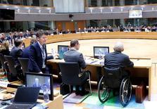 Una riunione dell'Ecofin a Bruxelles, il 21 febbraio scorso. REUTERS/Francois Lenoir