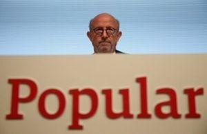 Banco Popular's Chairman Emilio Saracho attends the bank's general shareholders meeting in Madrid, Spain April 10, 2017. REUTERS/Juan Medina/File Photo