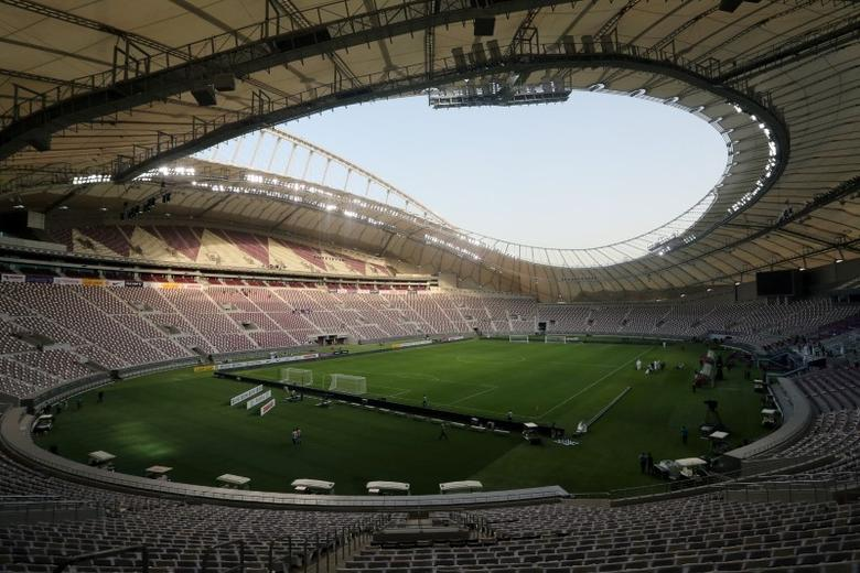 A view shows the Khalifa International Stadium in Doha, Qatar, May 18, 2017. REUTERS/Ibraheem Al Omari/File Photo