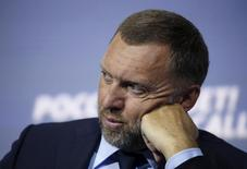 """Russian tycoon Oleg Deripaska attends the 7th annual VTB Capital """"Russia Calling!"""" Investment Forum in Moscow, Russia, October 13, 2015. REUTERS/Sergei Karpukhin"""