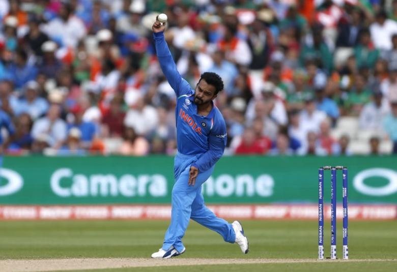 Britain Cricket - India v Bangladesh - 2017 ICC Champions Trophy Semi Final - Edgbaston - June 15, 2017 India's Kedar Jadhav in action Action Images via Reuters / Andrew Boyers Livepic