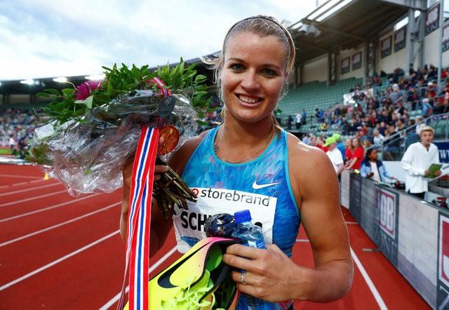Dafne Schippers (NED) won the women's 200m after first being disqualified at the Diamond League Bislett Games at Bislett stadium, June 15, 2017. NTB Scanpix/Terje Pedersen/via REUTERS