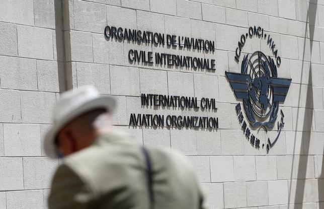 6月15日、サウジアラビアなど中東主要国がカタールとの国交を断絶し、カタール行きの航空便を運航停止としたことを受け、カタールが国際民間航空機関(ICAO)に仲裁を求めた。写真はモントリオールで15日撮影(2017年 ロイター/Christinne Muschi)