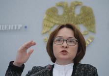 Эльвира Набиуллина. Глава Банка России Эльвира Набиуллина оценила рост ВВП РФ в третьем квартале 2017 года примерно в 1,3 процента. REUTERS/Maxim Shemetov