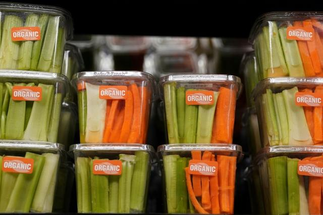 Cut vegetables for sale are pictured inside a Whole Foods Market in the Manhattan borough of New York City, New York, U.S. June 16, 2017.   REUTERS/Carlo Allegri